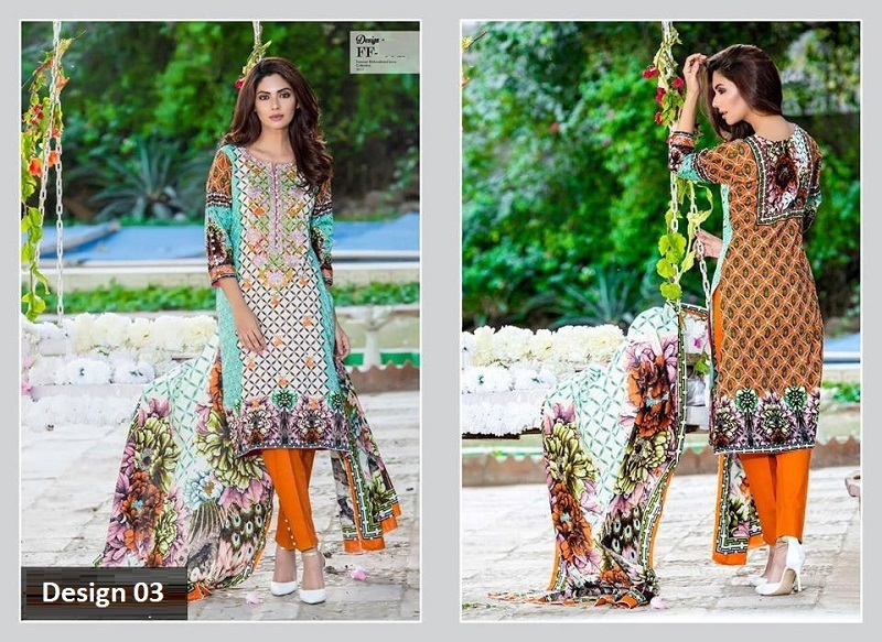 67005050ea Falak Fabric Lawn Vintage Collection 2017 (Embroidered 3 pc)